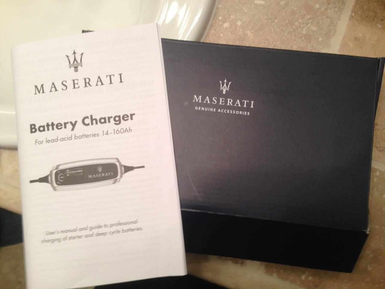Genuine Maserati Battery Tender For Sale New Maserati Forum